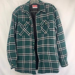 Wrangler flannel lined jacket size small